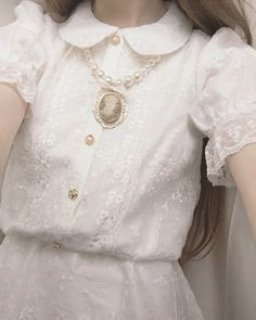 Image discovered by Dollbaby. Find images and videos about girl, white and vintage on We Heart It - the app to get lost in what you love. Angel Aesthetic, White Aesthetic, Aesthetic Fashion, Aesthetic Clothes, Kawaii Fashion, Lolita Fashion, Cute Fashion, Vintage Fashion, Fashion Outfits