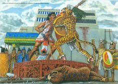 Aztec warriors.