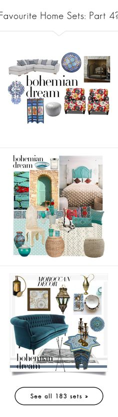 """Favourite Home Sets: Part 4💚"" by moon-crystal-wolf ❤ liked on Polyvore featuring interior, interiors, interior design, home, home decor, interior decorating, Ballard Designs, Serena & Lily, moroccandecor and York Wallcoverings"