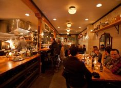 Tannery Bar | With a six-seat chef's counter, a dining room downscaled to two large communal tables, and a triple-decker DJ station spinning Japanese crooner records, Tannery Bar is flush with thirsty locals and flirty couples.
