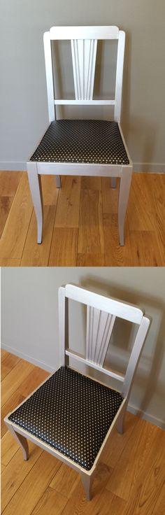 Chaise relookée argentée