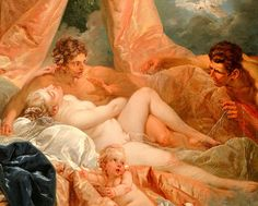 Francois Boucher, 1703-70, Venus and Mars surprised by Vulcan