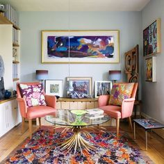 Discover ideas for hanging art on HOUSE - design, food and travel by House & Garden. Art collector Tim Ellis has integrated his collection beautifully in to his Georgian home.