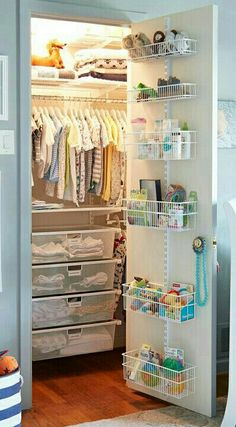 Similar to idea #1, this is also a really good way to organize the kids' bedroom closet. Idea #2