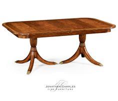 Regency crotch walnut extending dining table #hpmkt #jcfurniture #jonathancharles #Furniture #InteriorDesign #Windsor