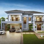 219 Stunning Contemporary Residences Exterior Design Ideas - Another! Two Story House Design, 2 Storey House Design, Bungalow House Design, Modern House Design, Beautiful House Plans, Dream House Plans, Contemporary House Plans, Modern House Plans, Contemporary Design