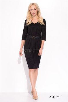 Rochie Blair Black Club Dresses, Dresses For Work, Plus Fashion, Fashion Tips, Fashion Design, Fashion Trends, Wrap Dress, Cold Shoulder Dress, Classy