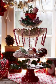 Christmas glassware layers