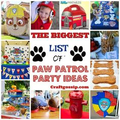 Paw Patrol is a Nick Jr production about a group of six rescue dogs, led by a tech-savvy boy named Ryder, has adventures in PAW Patrol. Paw Patrol is a very popular party theme this year and it's one of the funniest parties to set up. Paw Patrol Party Favors, Paw Patrol Birthday Invitations, Unicorn Invitations, 3 Year Old Birthday Party Boy, Birthday Party Games, 4th Birthday, Birthday Ideas, Paw Patrol Games, Paw Patrol Birthday Decorations