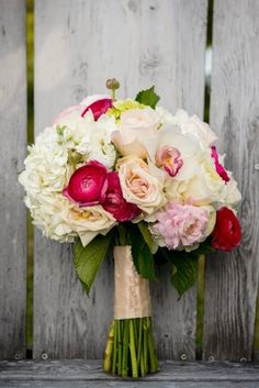 Too pretty!! ~ Pink and Red Lake House Wedding by Lucas deSousa Photography