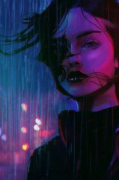 Cyberpunk Girl, Arte Cyberpunk, Art Sketches, Art Drawings, Art Et Design, Cyberpunk Aesthetic, Arte Obscura, Digital Art Girl, Anime Art Girl