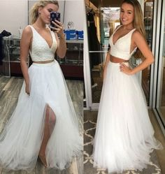 Two Pieces Prom Dress with Beaded Crop Top, Shop plus-sized prom dresses for curvy figures and plus-size party dresses. Ball gowns for prom in plus sizes and short plus-sized prom dresses for Short Sleeve Prom Dresses, Plus Size Prom Dresses, Cheap Prom Dresses, Bridesmaid Dresses, Wedding Dresses, Prom Dress Stores, Popular Dresses, Evening Gowns, Ball Gowns
