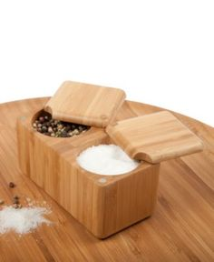 Love this!  Core Bamboo Salt Box, Double Square Box - Kitchen Gadgets - Kitchen - Macy's