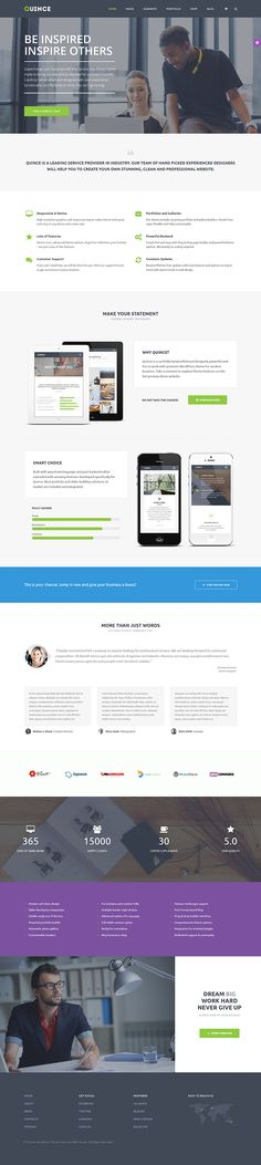 Quince - Modern Business Theme on Behance