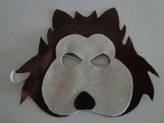 Máscara em feltro do Lobo Mau