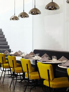 Restaurante do 'Hotel Americano'.  Arquiteto: TEN Arquitectos. Fotógrafo: Alexander Severin. Fonte: Archdaily