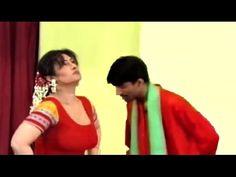 Sxi Megha Garam Joking with Sajan Abbas, Punjabi Stage Drama