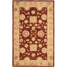 Anatolia Red/Sage (Red/Green) 8 ft. x 10 ft. Area Rug
