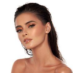 Tan Skin Makeup, Olive Skin Makeup, Contour Makeup, Bronze Skin, Bronze Makeup, Black Wig, Long Black, Ethereal Makeup, Aveda Makeup