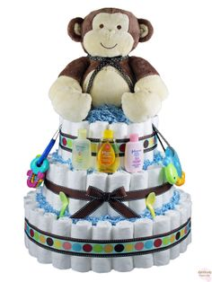 Diaper cake-need to start making for friends baby shower :-)