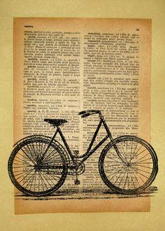 Classic bike Vintage Print