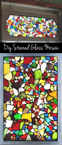 Check out this easy tutorial on how to make #DIY mosaic stained glass windows. Love it! #HomeDecorIdeas @istandarddesign