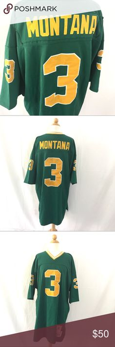 Joe Montana Notre Dame Throwback 1978 Jersey Classic Norte Dame throwback jersey of one of the greatest legends to ever played the game. If it was a little smaller I'd be wearin it myself. In pretty good shape, has some light sharpie are the inside neck tag. Size 54 Vintage Sportswear Shirts Tees - Short Sleeve