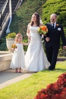 bride, daughter, and father walk down aisle. Yupppp I am totally doing this. When I Get Married, I Got Married, Getting Married, Perfect Wedding, Dream Wedding, Wedding Day, Jennifer Burke, Bride And Groom Pictures, Irish Wedding