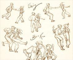 Bolin and Korra swing-dancing