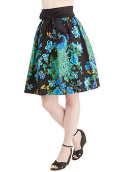 Just Glows to Show You Skirt. Though the jazz lounge lights are low, you light up the room in this gorgeous jewel-toned skirt! #black #modcloth