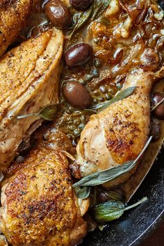NYT Cooking: Chicken alla cacciatora, or hunter's style, is found all over Italy — but for a long time, tomatoes were not. Most American know the southern Italian version, with tomatoes, but this one is from Umbria, in the country's center, and it's made savory with lemon, vinegar, olives and rosemary instead of tomatoes. It's lovely served with steamed greens dressed with a fruity o...