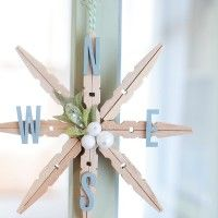 Clothespin Christmas Snowflake Ornament