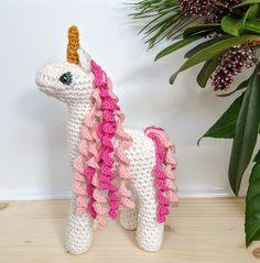 Little Unicorn pdf crochet pattern Crochet Unicorn Pattern, Crochet Patterns, Party Giveaways, Crochet Eyes, Aran Weight Yarn, Thing 1, Little Unicorn, Yarn Needle, Embroidery Thread