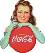 Coca Cola vintage pin up sign