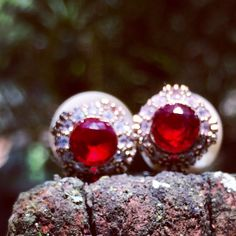 {VENDIDO} Coleção Prata Turca :: Brinco Estilo Dior vermelho ✨❤️ Para comprar ou receber mais informações, deixe seu e-mail nos comentários ou entre em contato com lojagrassa@gmail.com  #prataturca #prata #semijoia #acessório #anel