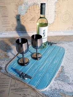 Wood Serving Tray  Beverage Tray  by HarborsideCollection on Etsy