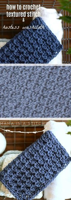 How To Crochet Textured Stitch & Hostess Washcloth. Free crochet pattern!
