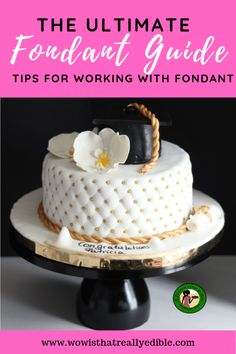 In the ultimate fondant guide learn tips and tricks for working with fondant, how to fix some fondant issues and the essential tools for covering a cake. Easy Fondant Recipe, How To Use Fondant, Homemade Fondant, Fondant Tips, Fondant Tutorial, Fondant Recipes, Making Fondant, Cake Recipes, Satin Ice Fondant