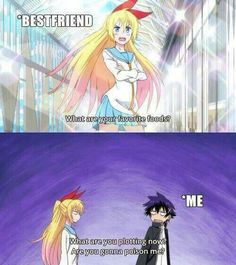 Hahahaha Chitoge x Raku 😅😍😂 Nisekoi - MobelPins Art Decor Nisekoi, Really Funny Memes, Stupid Funny Memes, Funny Relatable Memes, Chica Anime Manga, Otaku Anime, Cool Animes, Anime Qoutes, Funny Anime Pics