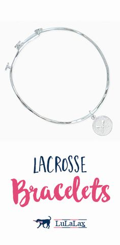 #Lacrosse girls always leave a little sparkle wherever they go...your lax girl is sure to shine bright in one of our beautiful lacrosse bracelets!