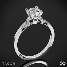 Tacori Simply Tacori 2586 Pave Diamond Engagement Ring | 2515; My side diamonds extend a little further down the sides