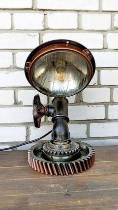 Table Lamp Steampunk Lamp Edison Light loft loft light