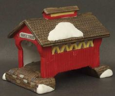 Dept 56 Red Covered Bridge New England Village