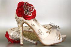 Custom Wedding Shoes  Ivory Peep Toe Wedding by DesignYourPedestal
