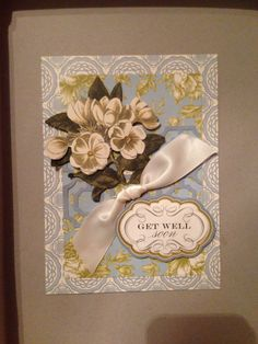 Pretty Card - Anna Griffin paper and die-cuts