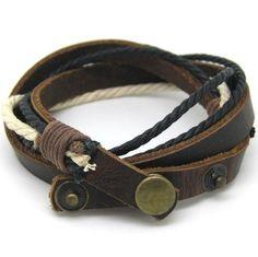 Bangle leather bracelet woven bracelet buckle bracelet women bracelet men bracelet made of leather and ropes wrist bracelet #Men'sAccesories
