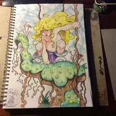 Blonde mowgli