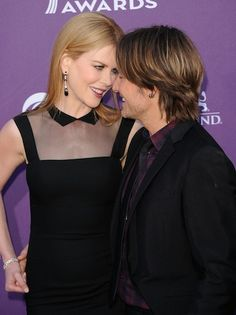 Nicole Kidman and Keith Urban share a personal moment on the Red Carpet