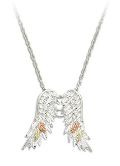 91 best black hills gold images on pinterest black hills gold landstroms black hills silver angel wing necklace with finely articulated sterling silver pendant of angel wings black hills gold leaves aloadofball Images