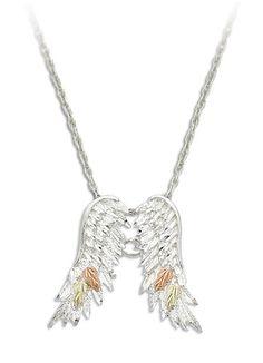 LANDSTROMS BLACK HILLS GOLD/SILVER angel wings PENDANT | eBay